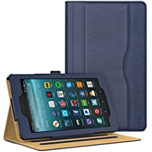 ATiC Amazon Fire 7 2017 Funda - Ultra Slim Función de Soporte Smart Cover Case Plegable para All-New Fire 7 Tablet, Auto Sueño/Estela con Ranuras del Documento para Tarjetas, Índigo