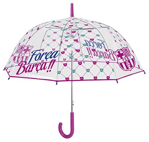 Perletti perletti1520161x 8cm Lady Dome Form PoE bedruckt FC Barcelona winddicht Regenschirm Galleria Form