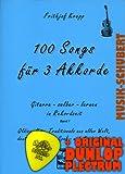 100 Songs für 3 Akkorde Band 1 inkl. Plektrum - Oldies, Hits, Traditionals aus aller Welt, deutsche Volks-, Spaß- und Kinderlieder für absolute Anfänger auf der Gitarre (Gitarre selber lernen in Rekordzeit) von Frithjof Krepp (Taschenbuch - 2008) (Noten/Sheetmusic)