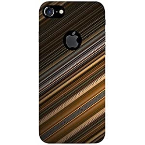 Casotec Stripes Design 3D Printed Hard Back Case Cover for Apple iPhone 7 (With Logo Cut)