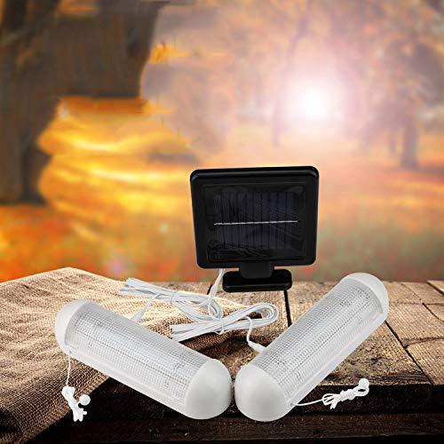 Características: Alimentado por un panel solar independiente que permite colocar las luces en zonas poco iluminadas. Las luces LED pueden mantener el brillo durante unas 6-8 horas por la noche después de cargarse completamente durante el día. La luz ...