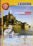 France 2018 Tourist & Motoring atlas A3-Spiral (Michelin Road Atlases)