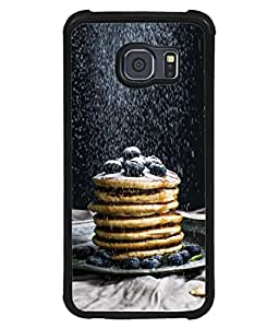 Snapdilla Designer Back Case Cover for Samsung Galaxy S6 Edge :: Samsung Galaxy S6 Edge G925 :: Samsung Galaxy S6 Edge G925I G9250 G925A G925F G925Fq G925K G925L G925S G925T (Cream Cool Taste Health Sweet Stick Brownie)
