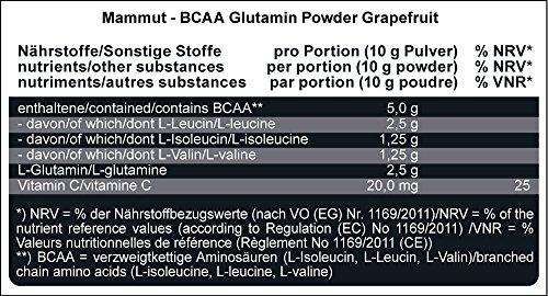 Mammut BCAA Glutamin Powder, Grapefruit, 1er Pack (1 x 450 g) - 2