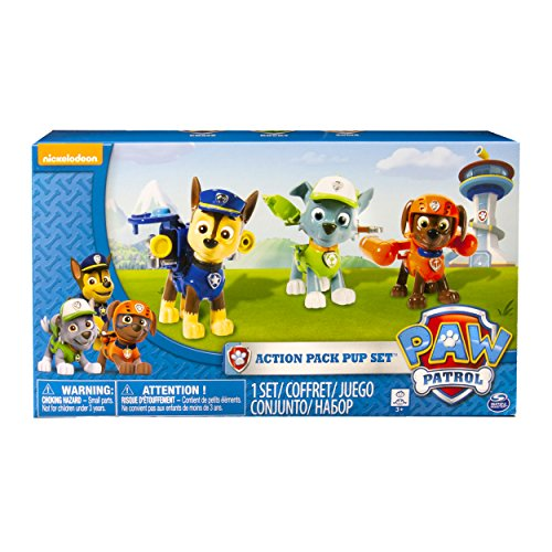 Spin Master Paw Patrol Action Pack Pups 3pk Online Exclusive 2 (Rocky, Zuma,...