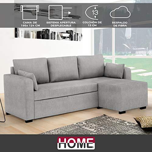HOME Sofá Cama extraíble de Tela Oiko Medida 2 plazas Cama +...