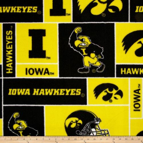 College Universität von Iowa Hawkeyes Print Fleece Fabric by the Yard -