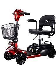 KMCQA Scooter de Viaje Eléctrico de 4 Ruedas para Adultos Powered Movilidad Scooters Compact Travel Power