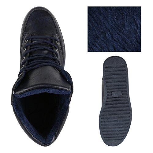 Stivale Da Uomo Bootparadise Stivali Scarpe Da Ginnastica Caldo Profilo Interno Foderato Flandell Blu Scuro Navy