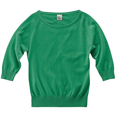 Hempage Damen Pullover Sandy aus Bio-Baumwolle und Hanf (M, Smaragd) (Hanf Baumwolle Pullover)