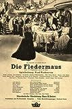 Die Fledermaus - Lida Baarova, Hans Söhnker, Hans Moser ... 30 er / 40 er Jahre - Film - Poster - 20 x 30 cm (Reproduktion eines alten Filmplakats)