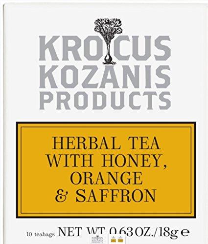 Krocus Kozanis Honig-Orangen-Safran-Kräutertee 10 Teebeutel (2er Pack)