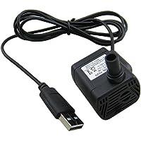 Yeeco 200L / H Max1.5M DC 3.5-9V 6V 9V USB Pompa ad Acqua Elettrica Brushless Mini Sommergibile Pompaggio per Pesci da Acquario Fontana Garden House Acqua Idroponica