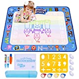 ESEOE Water Doodle Mat, Doodle Drawing Mat 100*80 CM Mat Educational Toys Arts Crafts Board for Boy Girl Toddlers Age 3-12