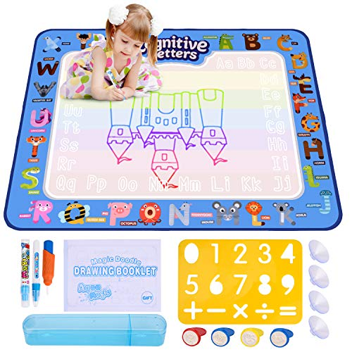 ESEOE Water Doodle Mat,Doodle Drawing Mat 100*80 CM Mat Educational Toys Arts Crafts Board for Boy Girl Toddlers Age 2-12