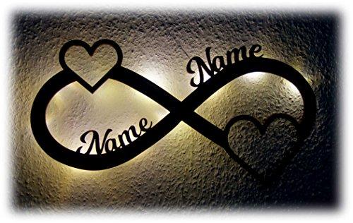 Love Geschenke personalisiert mit Namen zur Verlobung Jahrestag für Sie & Ihn I Optional mit Farbe