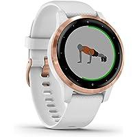 Garmin vívoactive 4S – schlanke, wasserdichte GPS-Fitness-Smartwatch mit Trainingsplänen & animierten Übungen. Für…