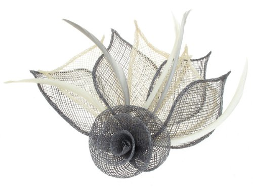an-elegant-hessian-fascinator-in-pewter-grey-and-ivory-cream-for-a-special-event