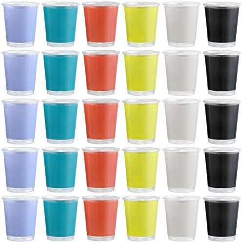 idea-della-stazione-bicchiere-di-plastica-usa-e-getta-200ml-30pezzi-colori-assortiti-impilabile-occh