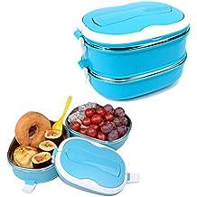 CHENFEI Bento Lunch Box Premium 2-compartimento stagno in acciaio inox