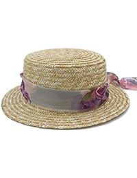 Battercake Wide Edge Hat Flat Hat Sombrero De De Fieltro Mujer Acogedor Jugador De Jugador De Bolos (Color: 1 Tamaño: 58Cm)