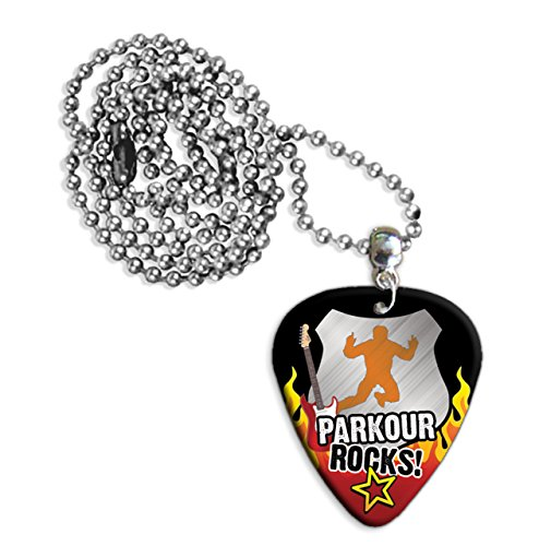 Parkour Rocks Guitar Pick Collana Necklace Plectrum Chain (R1)