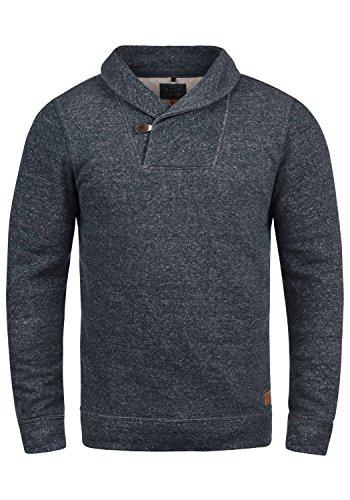 Blend Janosch Herren Sweatshirt Pullover Pulli Mit Schalkragen, Größe:M, Farbe:Navy (70230)