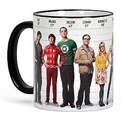 Big Bang Theory taza de café, contorno impreso