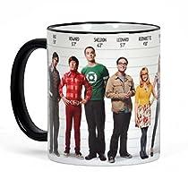 Tasse à café Big Bang Theory imprimée sur tout son contour