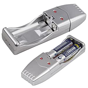 Accessotech chargeur de batterie USB pour Ni-MH AA & piles Rechargeable AAA Chargeur Portable