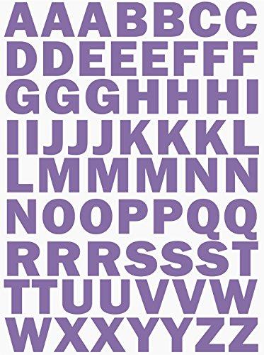 das-label Buchstaben Design NO.3 (gross) | lavendel Vinyl matt | selbstklebende gestanzte Klein- oder Großbuchstaben | zum Basteln Scrapbook | Sticker | Aufkleber | zum Beschriften (Aufkleber Große Lavendel)