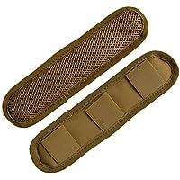 Rifle Sling Pad - Lote de 2 almohadillas para correa de hombro extraíbles para pistola, canela