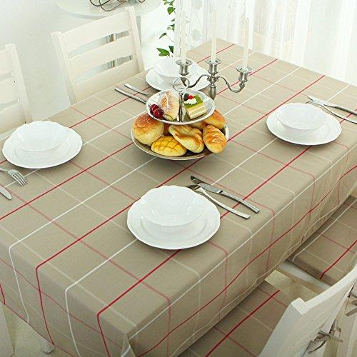 JPL Europäische minimalistische Tischdecke Stoff Plaid Stoff Tischdecke längliche Tischdecke Tischtuch,B, 140x240cm (55x94inch) (Längliche Stoff-tischdecke)