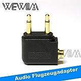 WEWOM Audio Flugzeugadapter für Kopfhörer 2x 3