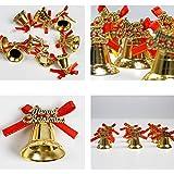 APSAMBR-6 pcs/Pack Christmas Bells Christmas Tree Pendant Decorations Creative Gold Bells New Year Gift Christmas New Pendant
