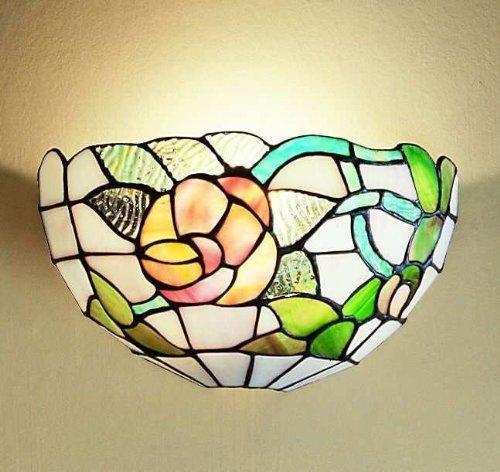 Wandleuchte Tiffany T727-Maßnahmen H. 16x 26x 13cm-1x E27-Lampe Typ Perenz t727a