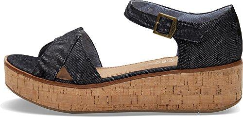 d0fdd101ee5 TOMS Womens Black Denim Harper Platform Wedge Sandals-UK 5 - Buy Online in  Oman.
