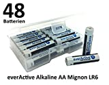NEMT Flachbox mit 48 x everActive Mignon AA LR6 MN1500 MX1500 Alkalinebatterie Batterien 2900 mAh