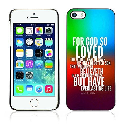 ouucase Coque rigide pour iPhone 5/5S-pour God So Loved The World DIY HD Housse PC Pour New Design