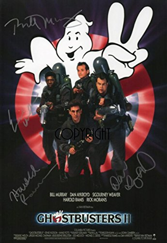 Limited Edition Ghostbusters 2 Poster, signiert Foto Autogramm signiertsigniertes