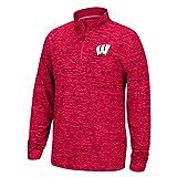 Elite Fan Shop NCAA Herren Pullover Team Color Space gefärbt Poly Quarter Zip, Herren, Men's Team Color Space Dyed Poly Quarter Zip Pullover, True Red, X-Large