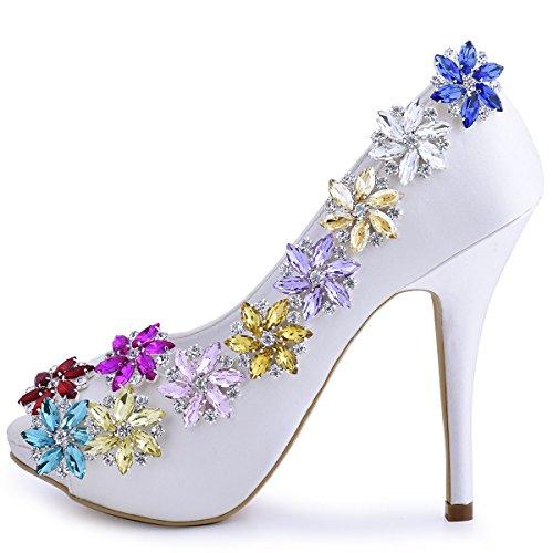clips Strass Schuh Party Tasche Violett Kleider Hat Tanzschuh Damen 2 St篓鹿ck ElegantPark Clutch AJ Passenden Fashion Schuhe pxOwwUg