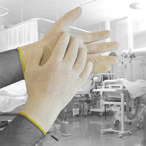 Bodyguards dera03Polyco Dermatologie Baumwolle Handschuhe, 1Paar, Gr. 9/L, natur (Recht Herren Bekleidung Hand)
