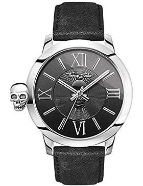 Thomas Sabo Herren Armbanduhr Datum klassisch Quarz Leder WA0296-218-203-46 mm