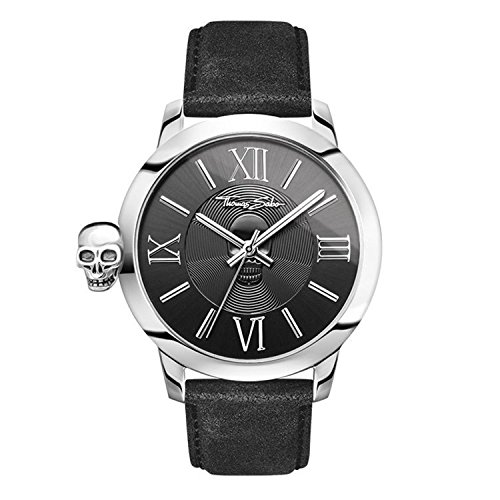 Thomas Sabo Herren-Armbanduhr Rebel with Karma schwarz silber Analog Quarz