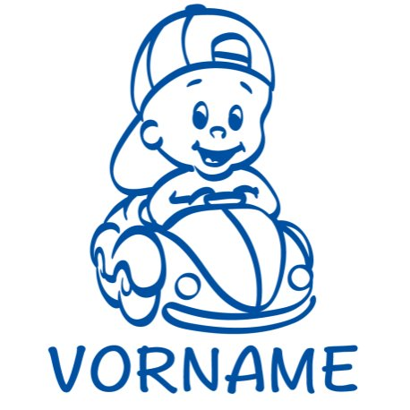 Baby Autoaufkleber mit Namen - Babyaufkleber Auto Junge - (Höhe 15/22/30 cm) - Baby on Board Aufkleber - Babysticker mit Wunschnamen - von stick-us
