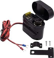 F Fityle 1 Stück Ladegerät Wasserdichtes Abdeckungsdesign mit Lenkerhalterung Motorrad USB-Ladegerät