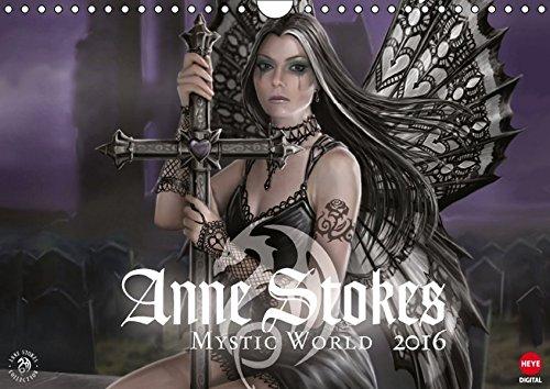 Mystic World Planer (Wandkalender 2016 DIN A4 quer): Fantasy by Anne Stokes! (Monatskalender, 14 Seiten) (CALVENDO Kunst) (T-shirt Drache-kunst-dunklen)