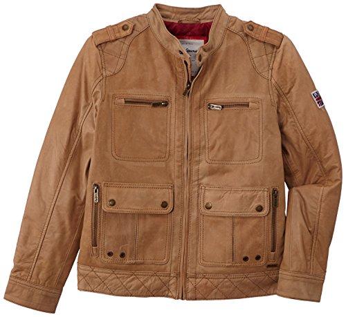 Pepe Jeans Jungen Jacke PAUL, Gr. 176 (Herstellergröße: L), Braun (TAN 869) (Tan-jungen-jacke)