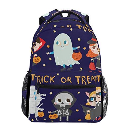 Wfispiy Lustige Halloween Kostüme Fantasy Rucksack Schultasche Travel Daypack